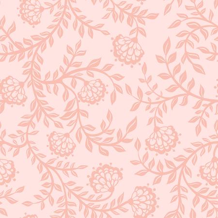 Illustration pour Vintage floral seamless pattern. Seamless texture with flowers. Endless floral pattern. - image libre de droit