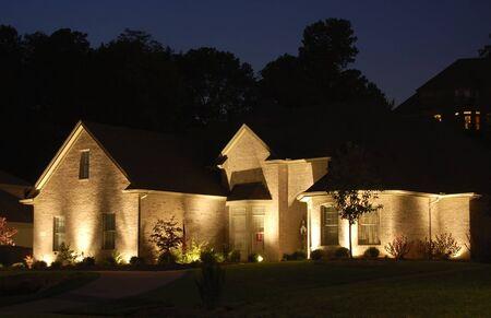 Nice home lite up at night