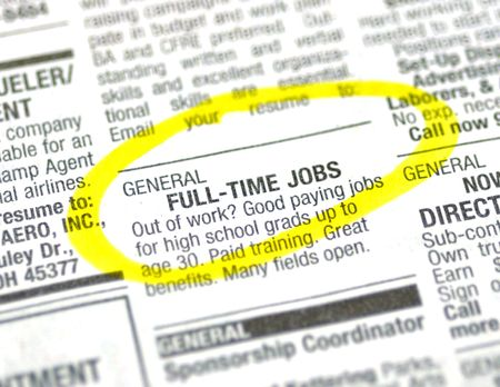 Job ad in the classified section of the paper