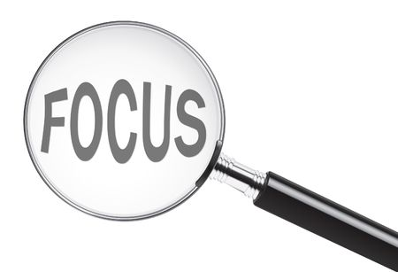 Photo for Focus concept with text under a magnifying glass - Royalty Free Image