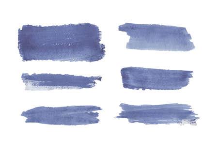 Illustration pour Blue watercolor brush stroke texture. - image libre de droit