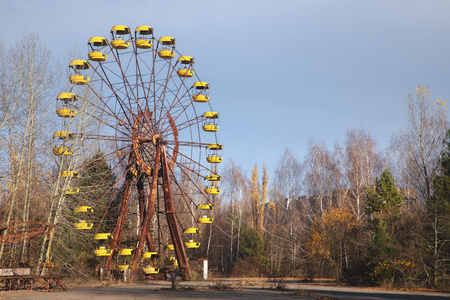 Photo for Ferris wheel of Pripyat ghost town 2019 outdoors - Royalty Free Image