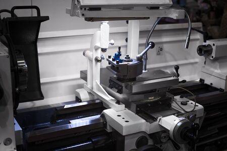 Photo pour Automated robotic cnc working in industrial factory - image libre de droit