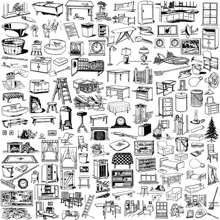 the collection of home stuff`s silhouettes