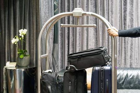 Photo pour Trolley Luggage at the hotel - image libre de droit