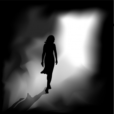 A woman from the darkness meets the bright light