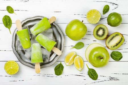Detox, healthy green smoothie icecream