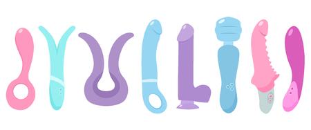 Ilustración de Sex toys. Vector flat illustration. - Imagen libre de derechos