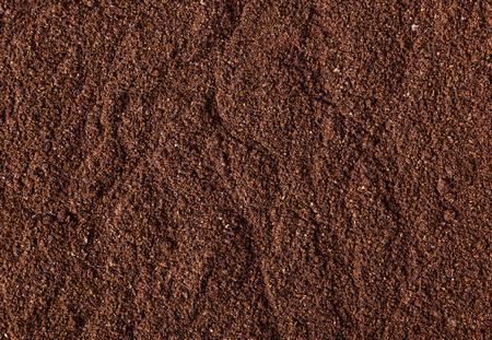 Photo pour Ground roasted coffee bean background - image libre de droit