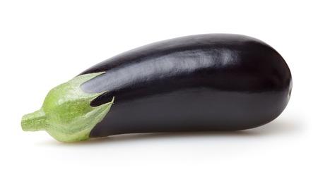 Photo pour Fresh eggplant isolated on white background - image libre de droit