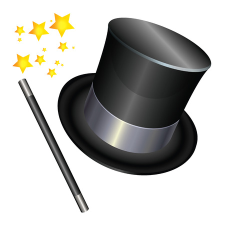 Magic Hat, Wand, and Stars