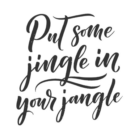 Illustration pour Christmas quote. Winter xmas slogan. Hand drawn Calligraphic lettering. Inspirational text for invitation design. Vector illustration - image libre de droit