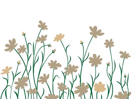 Illustration pour Abstract border, wild summer or spring card, illustration. - image libre de droit