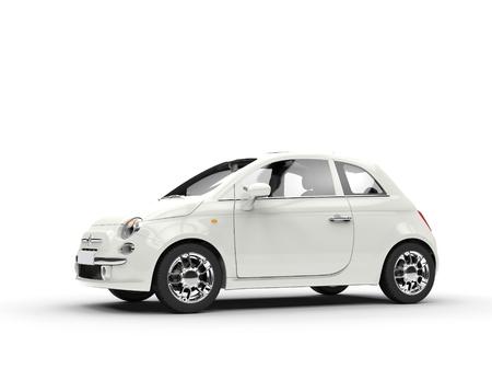 Foto de Small economic white car - Imagen libre de derechos