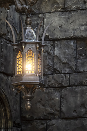 Street iron lantern in an old Gothic style.