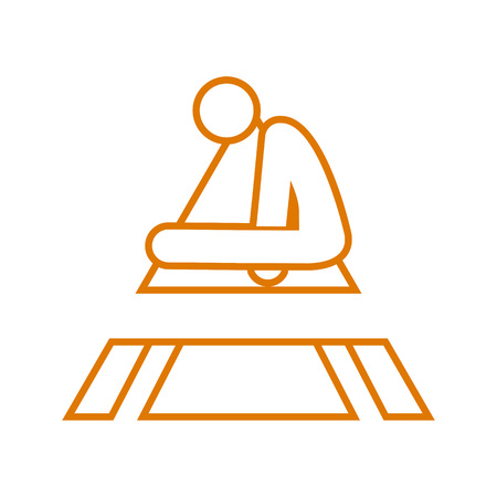 Triangle Shape Pommel Horse Sport Outline Figure Symbol Vector Illustration Graphic Design