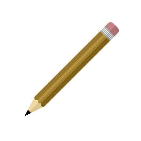Illustration pour Simple Brown Pencil Vector Illustration Graphic Design - image libre de droit
