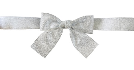 silver gift bow