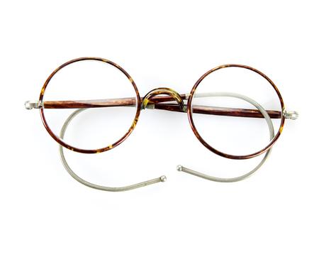 vintage glasses isolated on white background