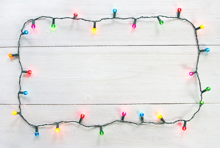 Photo for Christmas lights frame - Royalty Free Image
