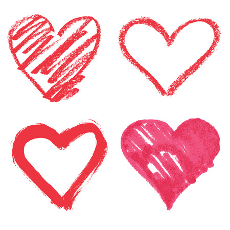 Illustration pour Vector heart set - image libre de droit