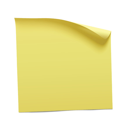 Illustration pour yellow sticky note, vector - image libre de droit