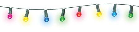 seamless christmas lights vector illustration