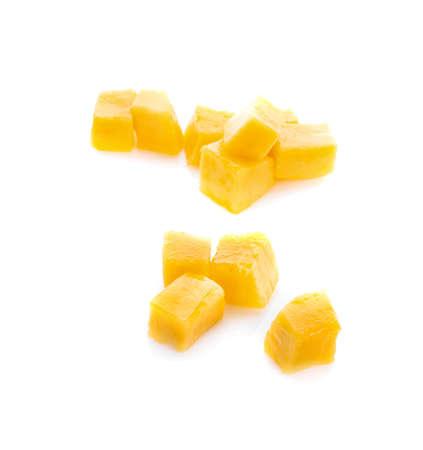 Photo for mango slice isolated on white background - Royalty Free Image