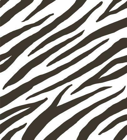 Illustration pour Vector seamless pattern of black and white zebra stripes print fur - image libre de droit