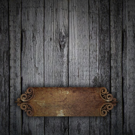 Wood Background with rust