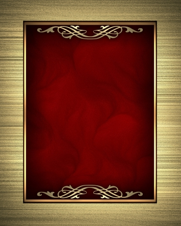 Photo pour Gold frame isolated on red background - image libre de droit