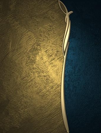 Photo pour The template for the inscription  Gold and blue texture  - image libre de droit
