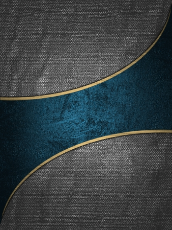 The template for the inscription  Iron background with a blue nameplate