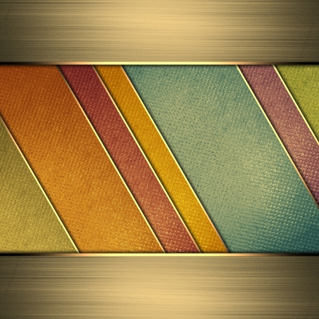 Template for design. Multi-colored background from stripes. A vintage poster. Design for website