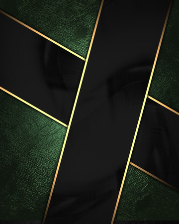 Green velvet background with black plate. Element for design on black background. Template for design. copy space for ad brochure or announcement invitation, abstract background.