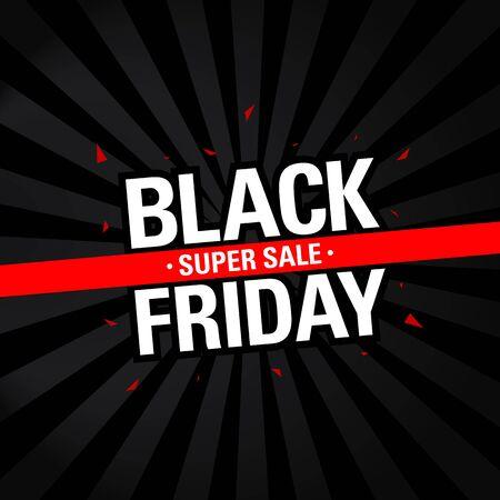 Illustration pour black friday sale discount banner. black friday sale template design concept. social media banner design template. - image libre de droit