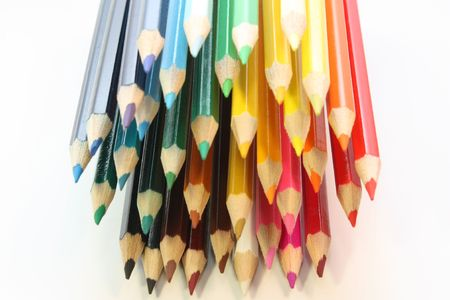 pencils isolated on the white colour background