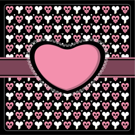 Emo goth lace card