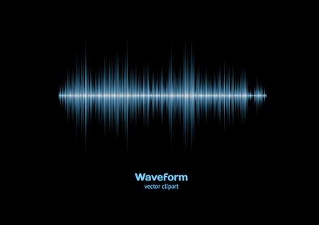 Sharp cool blue waveform