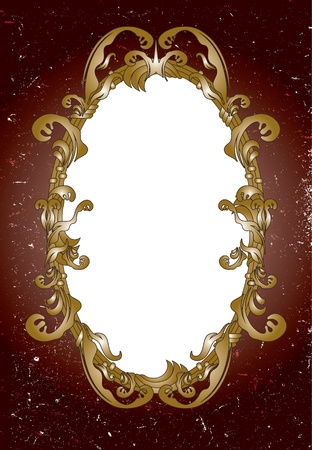 Ornamental mirror frame