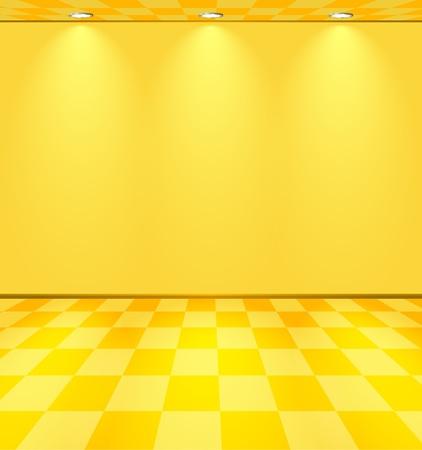 Ilustración de Yellow lightened room - Imagen libre de derechos