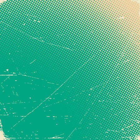 Illustration for Old scratched paper card with halftone gradient - Royalty Free Image