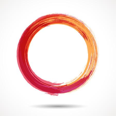 Illustration pour Orange and marsala fashion themed watercolor ring - image libre de droit