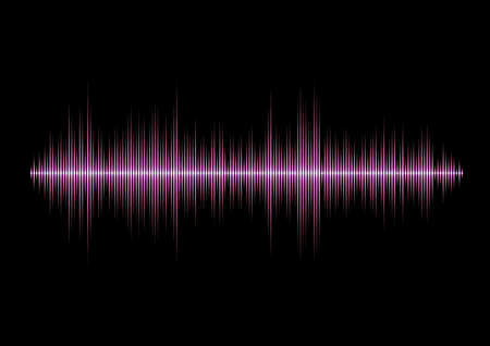 Pink glamour music waveform with sharp peaks