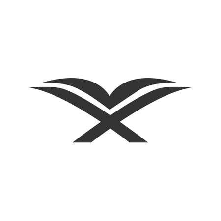 Illustration pour opened al-quran symbol or logo concept vector - image libre de droit