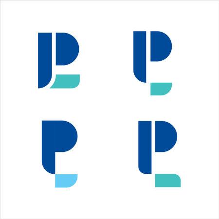 Illustration pour Logo initial letter pl modern digital P L pay later technology - image libre de droit