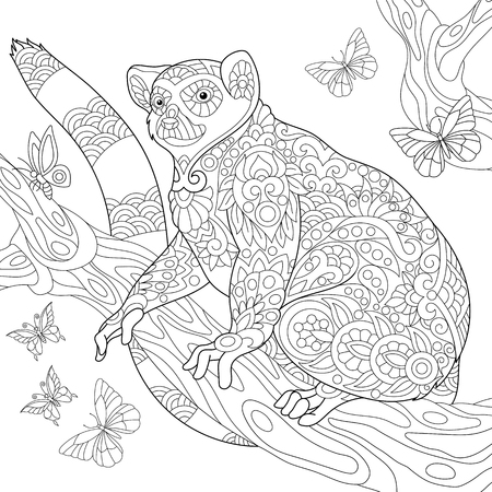 Animated lemur coloring pages Madagascar 2 penguins dot to dot ... | 450x450