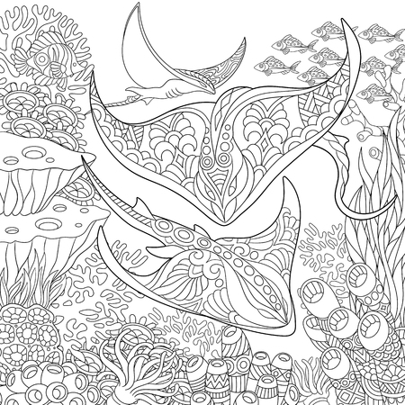 Common Stingray coloring page | Free Printable Coloring Pages | 450x450