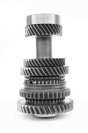 automobile gear on isolated background
