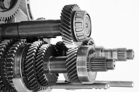 car gearbox on isolated white background
